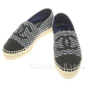 445651dbd834 シャネル シューズ エスパドリーユ ココマーク ツイード フラットシューズ 19C レディースサイズ36 G29762 CHANEL 靴