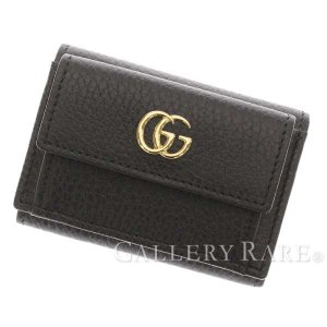 95ede89f16f5 グッチ 財布 プチマーモント Petite Marmont コンパクトウォレット 黒 レザー 523277 GUCCI ウォレット コンパクト財布