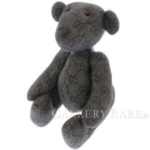 グッチ ぬいぐるみ GGキャンバス テディベア GUCCI GG柄 クマ ベアー 熊 ブラック 黒 ...