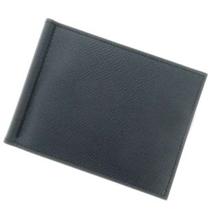 エルメス 財布 ポーカー マネークリップGM ブルーインディゴ×ブラック×ヴェール ヴォーエプソン ...