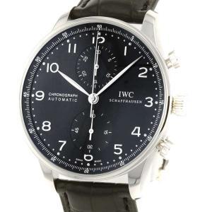 IWC ポルトギーゼ クロノグラフ IW371447 腕時計 黒文字盤 安心保証