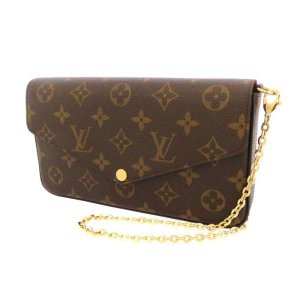 deebbd2a0045 ルイヴィトン チェーンウォレット モノグラム ポシェット フェリシー M61276 LOUIS VUITTON 財布 バッグ クラッチバッグ  ショルダーバッグ フェリーチェ