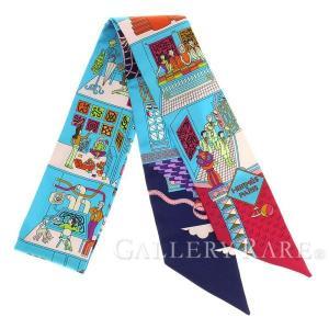エルメス スカーフ ツイリー シルクツイル メゾン・デ・カレ La Maison des Carres HERMES シルクスカーフ|gallery-rare