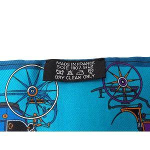 エルメス スカーフ ツイリー シルクツイル Les Voitures Nouvelles 馬車の変遷 HERMESシルクスカーフ|gallery-rare|03