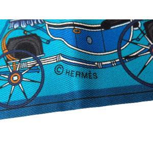 エルメス スカーフ ツイリー シルクツイル Les Voitures Nouvelles 馬車の変遷 HERMESシルクスカーフ|gallery-rare|05