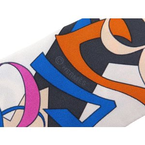 エルメス スカーフ ツイリー シルクツイル Le Nombre D Or 黄金数柄 HERMES シルクスカーフ|gallery-rare|02