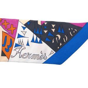 エルメス スカーフ ツイリー シルクツイル Le Nombre D Or 黄金数柄 HERMES シルクスカーフ|gallery-rare|03
