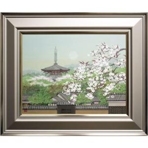 奈良の風景を描く作者の美しい春景です。   【船橋穏行 ふなはしやすゆき】  1950 愛知県名古屋...