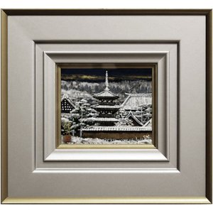 各地を巡り描いた日本の風景美。 小ぶりながら存在感のある一枚です。   【 後藤純男 ごとうすみお ...