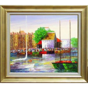 フランスノルマンディー地方の港町。  セーヌ左岸の河口、旧港の風景は、格好の画題となる。  似た構図...