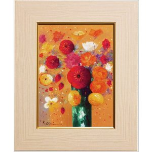 明るいポピーの花の色が、とても印象的に、かわいらしく描かれた素敵な一枚。 お部屋のムードがぐんと華や...
