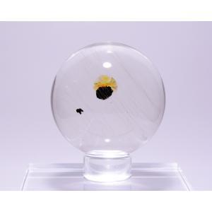 水晶丸玉69.5ミリ内包物入り|gallery2100