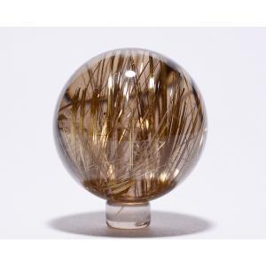 ルチル入り水晶丸玉49.5mm|gallery2100