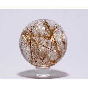 ルチル入り水晶丸玉43ミリ|gallery2100