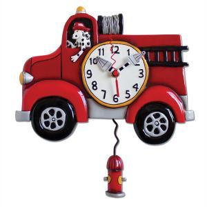 アレンデザイン 掛け時計 Big Red Allen Clock 振り子時計 消防車 ダルメシアン 犬 アメリカ  USA|gallerycuore