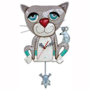 アレンデザイン 掛け時計 Mouser(Cat) Allen Clock 振り子時計 猫 ネズミ アメリカ  USA|gallerycuore