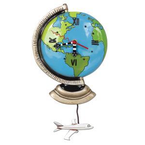 アレンデザイン 掛け時計 Globe Allen Clock 振り子時計 地球儀 飛行機 地球 アメリカ  USA|gallerycuore