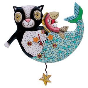 アレンデザイン 掛け時計 Marcat Allen Clock 振り子時計 猫 人魚 アメリカ  USA|gallerycuore