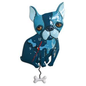アレンデザイン 掛け時計 Le Bleu(dog) Allen Clock 振り子時計 フレンチブルドック フレブル 犬 アメリカ  USA|gallerycuore