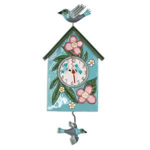 アレンデザイン 掛け時計 Blessed Nest Allen Clock 振り子時計 鳥の巣 家 花 アメリカ  USA|gallerycuore