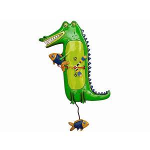 アレンデザイン 掛け時計 Later Gator Allen Clock 振り子時計 ワニ 魚 アメリカ  USA|gallerycuore