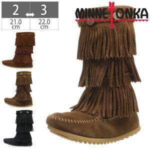 ミネトンカ MINNETONKA モカシン ブーツ フリンジ SuedeThree Layer Fringe Boot for Child's 3段フリンジ キッズ 2658 2659 2652|gallerymc