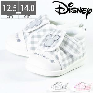 DS0128 ディズニー ミッキー ミニー ベビー シューズ スニーカー 履かせやすい 子供 マジックテープ ベルクロ|gallerymc