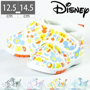 DS0156 ディズニー ミッキー ミニー ベビー シューズ スニーカー 履かせやすい 子供 マジックテープ ベルクロ|gallerymc