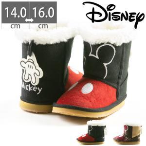 キッズ ベビー ブーツ 子ども こども ディズニー ミッキー Mickey Mouse 子供 靴 防寒 冬 プレゼント Disney 出産祝い DS7178|gallerymc