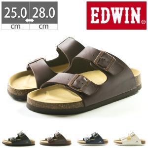 EDWIN コンフォートサンダル EB1001 プレゼント フットベットサンダル 25 26 27 28|gallerymc