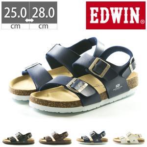 EDWIN コンフォートサンダル EB1002 プレゼント フットベットサンダル 25 26 27 28|gallerymc