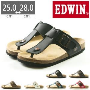 EDWIN コンフォートサンダル EW9123 プレゼント フットベットサンダル 25 26 27 28|gallerymc