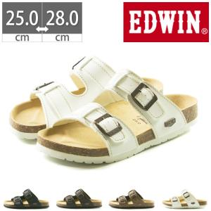 EDWIN コンフォートサンダル EW9128 プレゼント フットベットサンダル 25 26 27 28 gallerymc
