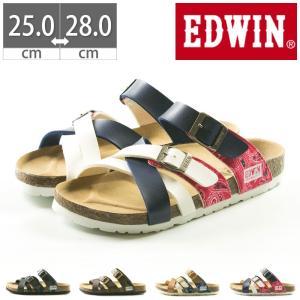 EDWIN コンフォートサンダル EW9166 プレゼント フットベットサンダル 25 26 27 28|gallerymc