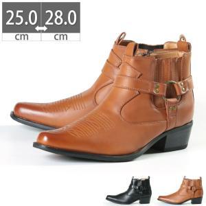 クレーン CRANE メンズブーツ メンズ ショートブーツ ウエスタンブーツ リングブーツ 5.5cmヒール サイドジッパー サイドジップ 紳士靴 コスプレ|gallerymc