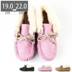ブーツ キッズ ジュニア レディース モカシン ファー 子供 靴 ジュニアシューズ 小さいサイズ|gallerymc