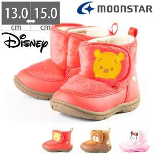ムーンスター Moon Star ディズニー B1219 Disney ベビー キッズ シューズ ブーツ プーさん チップとデール ミニー 子供|gallerymc
