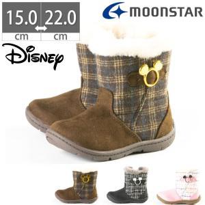 ムーンスター Moon Star ディズニー C1222 Disney ミッキーマウス キッズシューズ キッズブーツ ショートブーツ 女の子 かわいい|gallerymc