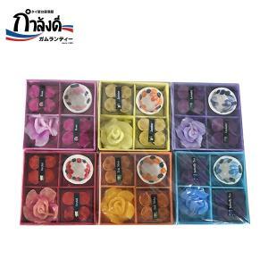 【送料無料】お香 タイのお香 香皿付き 6個セット ギフトセット タイ土産 コーンタイプ キャンドル|gamlangdii-store