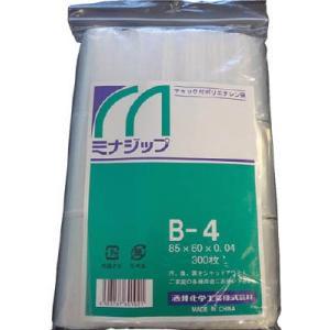 酒井化学工業(株) ミナ チャック付ポリエチレン袋 「ミナジップ」 MZB-4 1袋(300枚入)|ganbariya-shop