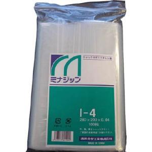 酒井化学工業(株) ミナ チャック付ポリエチレン袋 「ミナジップ」 MZI-4 1袋(100枚入)|ganbariya-shop