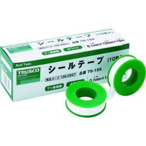 TRUSCO シールテープ 13mmX5m T6-5S 10巻|ganbariya-shop
