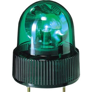 (株)パトライト パトライト SKH−A型 小型回転灯 Φ118 オールプラスチックタイプ 色:緑 SKH-110A-G 1台【100-4557】|ganbariya-shop