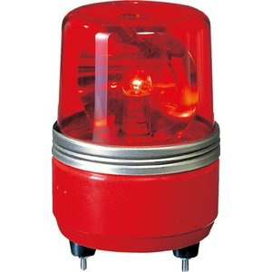 (株)パトライト パトライト SKH−EA型 小型回転灯 Φ100 色:赤 SKH-24EA-R 1台【100-4654】|ganbariya-shop
