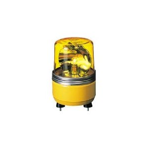 (株)パトライト パトライト SKH−EA型 小型回転灯 Φ100 色:黄 SKH-24EA-Y 1台【100-4662】|ganbariya-shop
