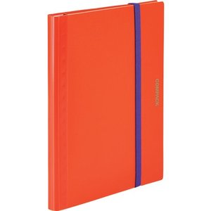 キングジム 二つ折りクリアーファイルコンパック 5ポケットオレンジ 5894S-OR 1冊|ganbariya-shop