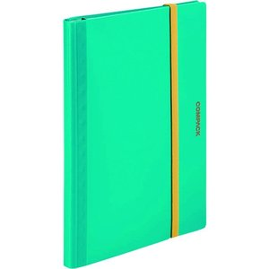 キングジム 二つ折りクリアーファイルコンパック 5ポケット水色 5894S-MI 1冊|ganbariya-shop