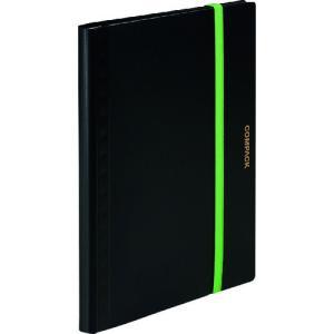 キングジム 二つ折りクリアーファイルコンパック 5ポケット黒 5894S-K 1冊|ganbariya-shop