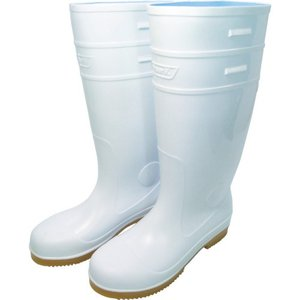 日進 耐滑先芯入り長靴 白 25.5cm V4500W-25.5 1足|ganbariya-shop