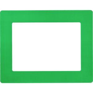 緑十字 路面用区画標識(A4用紙対応タイプ) 緑 312×398mm 裏テープ付 403112 1枚 ganbariya-shop